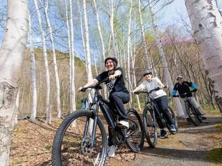 【Eバイクレンタル】自然豊かな定山渓周辺をサイクリング(イメージ)