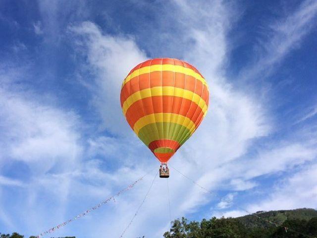 ◆熱気球/地上約30mまで上がり、ニセコ連邦をパノラマでお愉しみいただけます(イメージ)